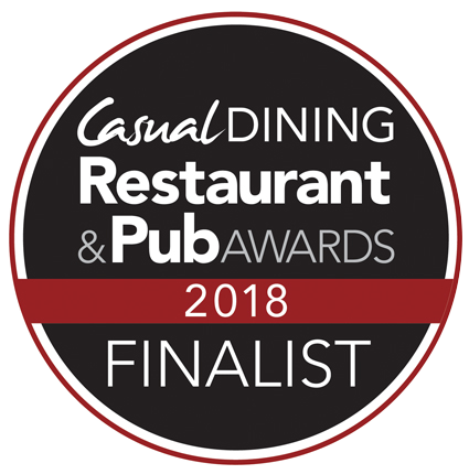 Casual Dining Restaurant & Pub awards finalist 2018